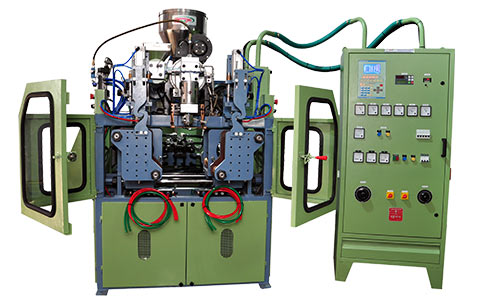 500 ML DOUBLE STATION WITH VIEW STRIP BLOW MOULDING MACHINE