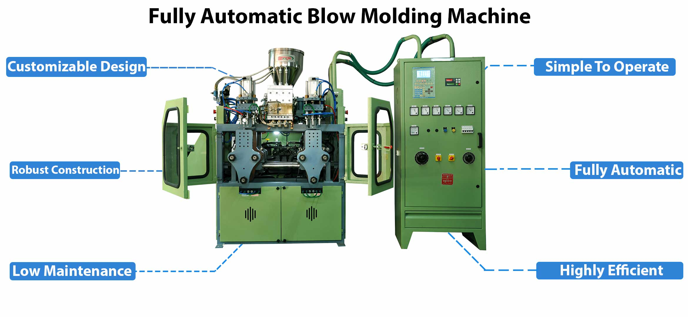 plastic blow moulding machine key spacification